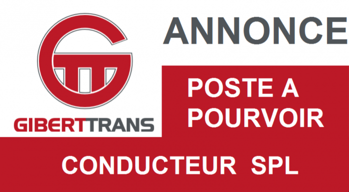 GIBERTTRANS recrute conducteur SPL